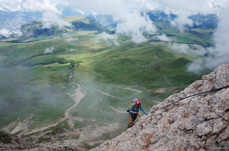 Dolomites, Italy, Rosengarten, via ferrata, Maximilian