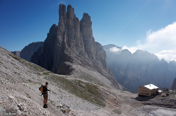 Dolomites, Italy, Rosengarten, Rifugio Re Alberto