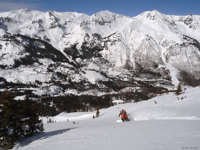 snowboarder, San Juans, Colorado, photo