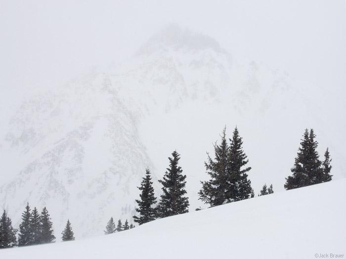 Sultan Mountain, snowstorm, San Juan Mountains, Colorado, photo