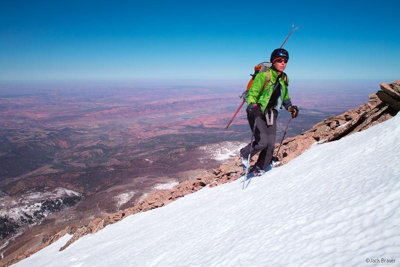 Hiking, Mount Tukuhnikivatz, La Sal Mountains, Moab, Utah, April, Tuk, photo