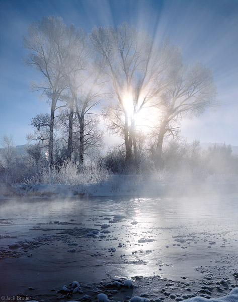 Uncompahgre River, winter sunrise, Ridgway, Colorado, photo, prints photo