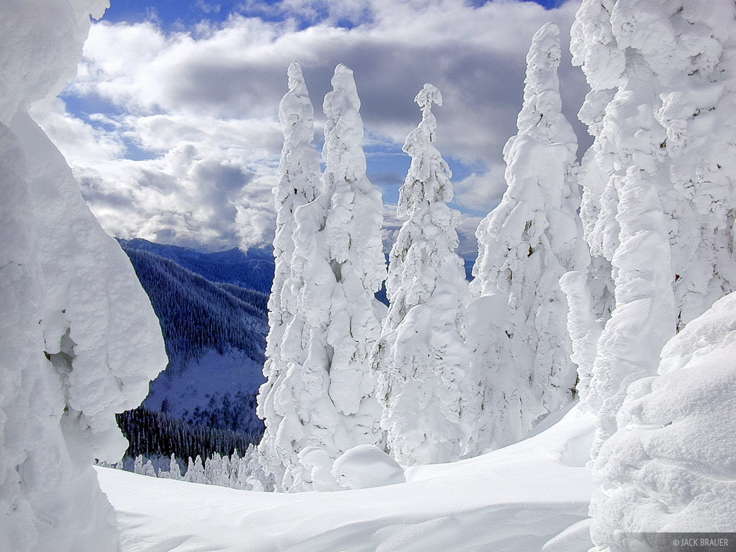 Snow Blobs, Stevens Pass, Washington, Cascades, photo