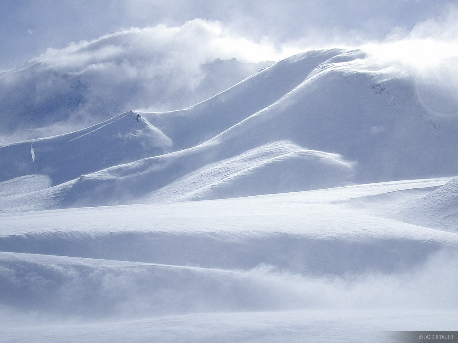 windblown, powder, snow, Argentina, Las Leñas, photo