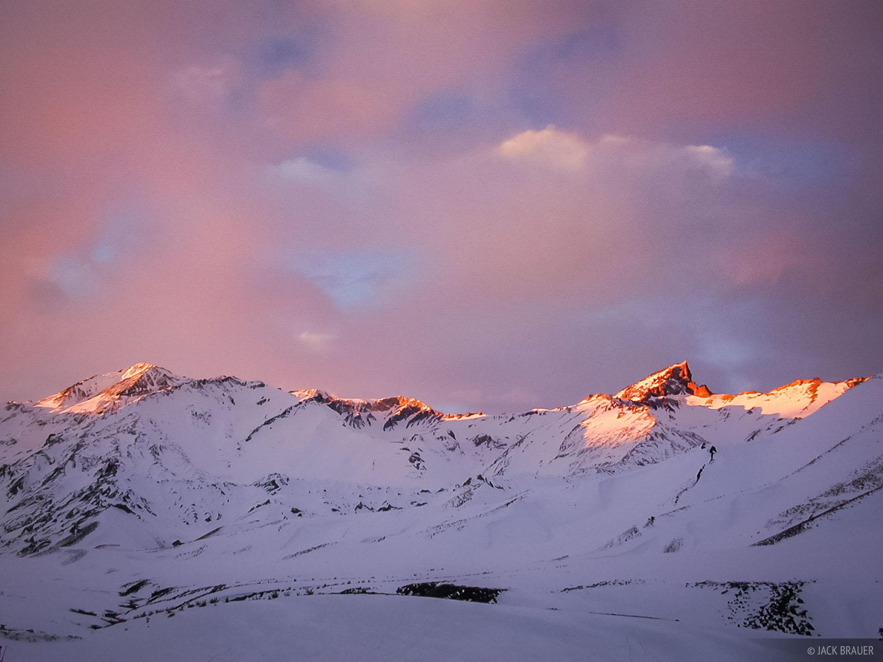 sunset on Cerro Las Leñas