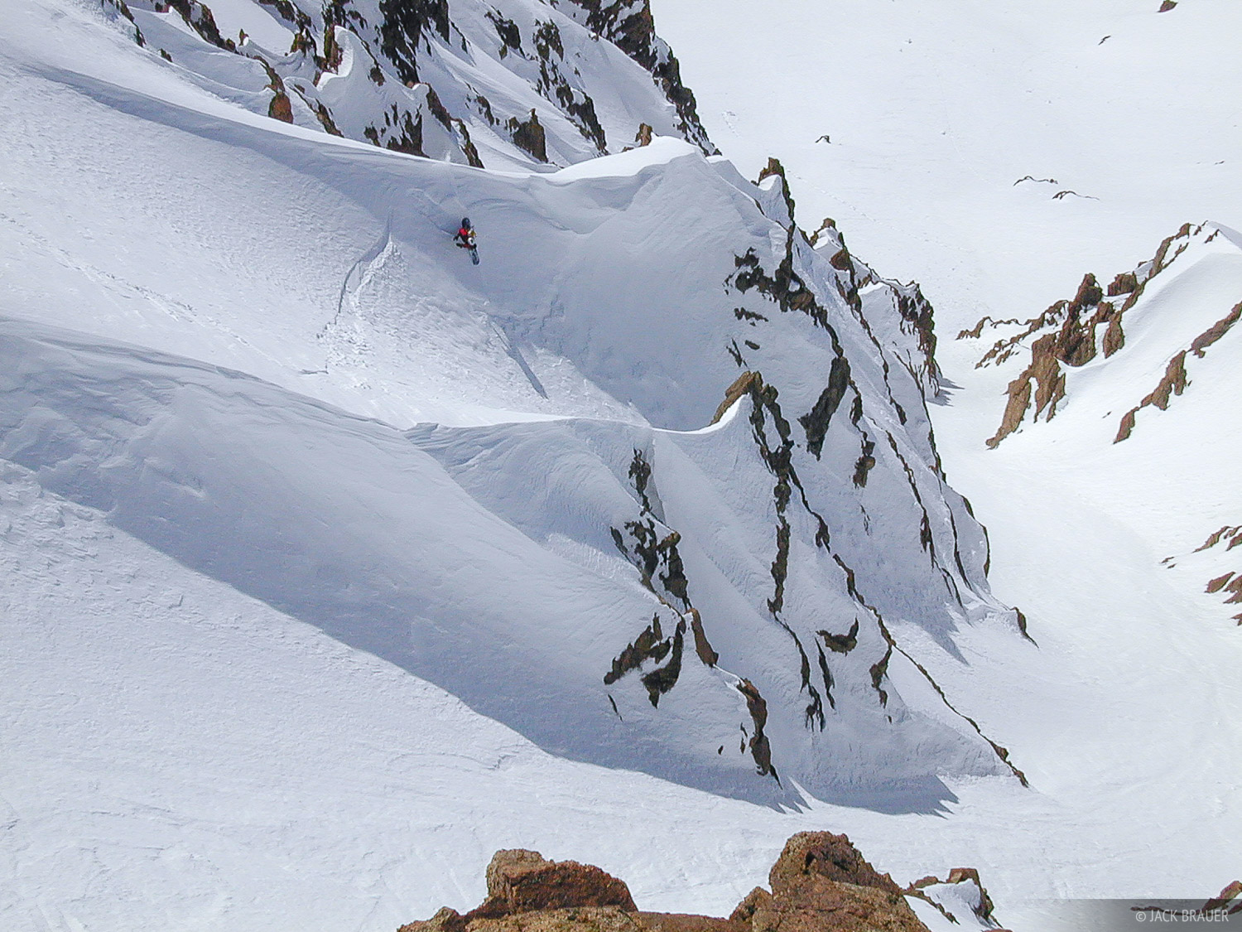 Sans Nome, couloir, Las Le, Las Leñas, Argentina, snowboarding, Las Leñas, photo