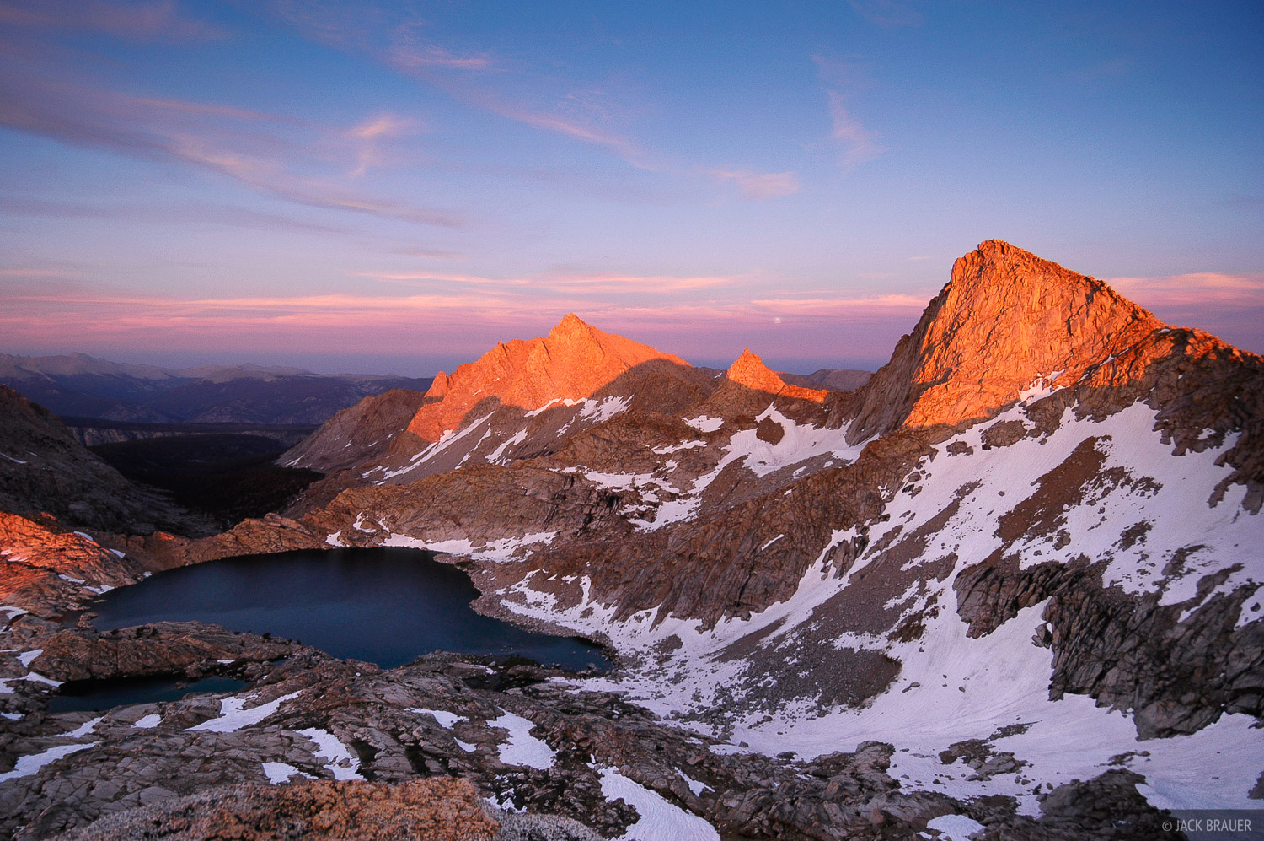 Sawtooth Peak, sunset, Sequoia National Park, Sierra Nevada, California, photo