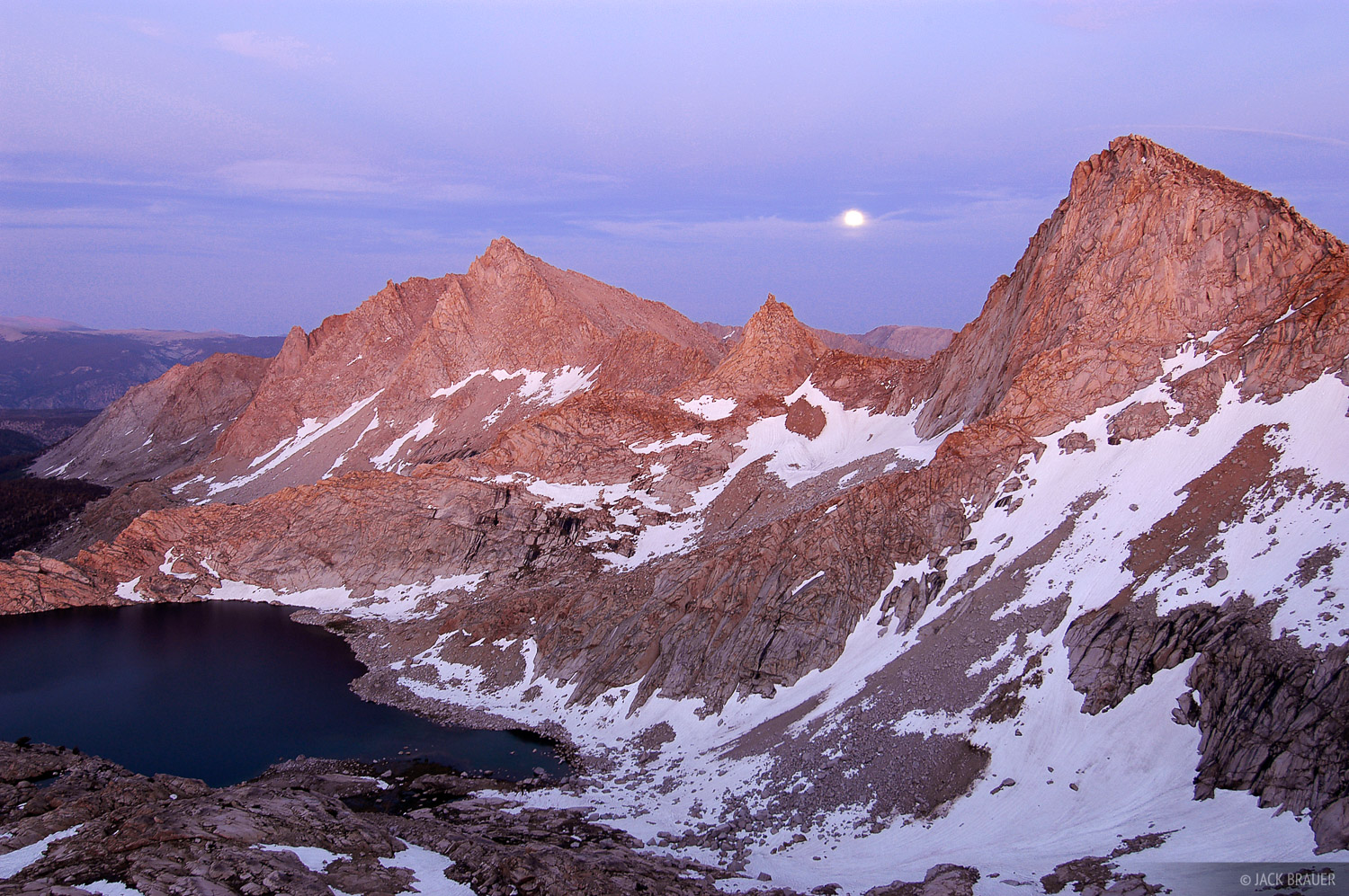 Sawtooth Peak, twilight, Sierra Nevada, California, Sequoia National Park, photo