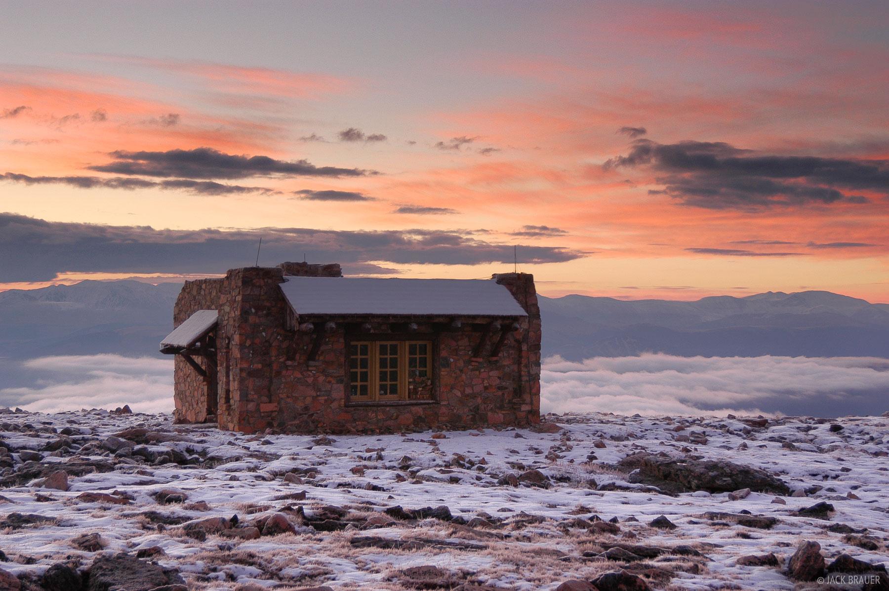 Notch Mountain, hut, sawatch range, colorado, photo