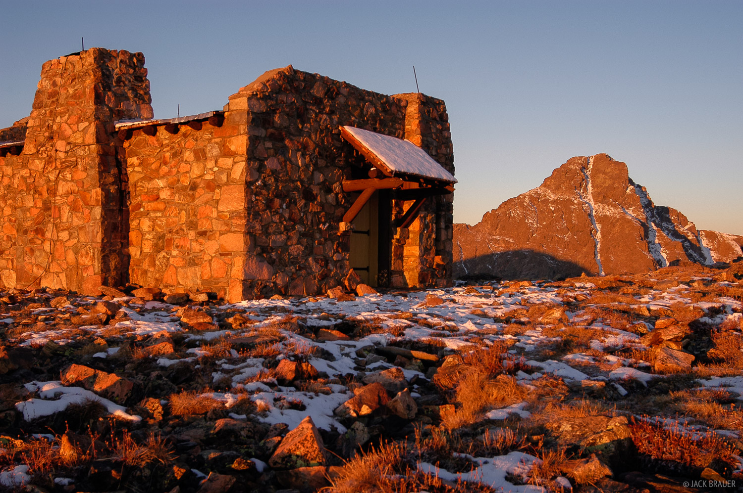 Mount of the Holy Cross, hut, Notch Mountain, summit, Colorado, Holy Cross Wilderness, photo