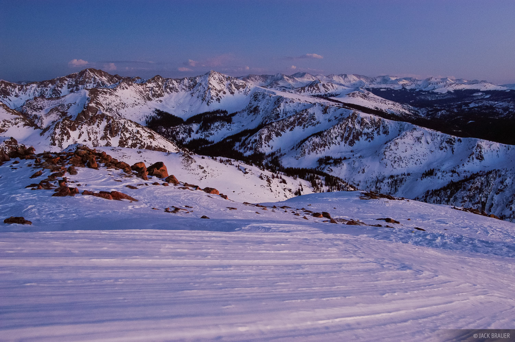 Gore Range, twilight, Vail, Colorado, Eagles Nest Wilderness, photo