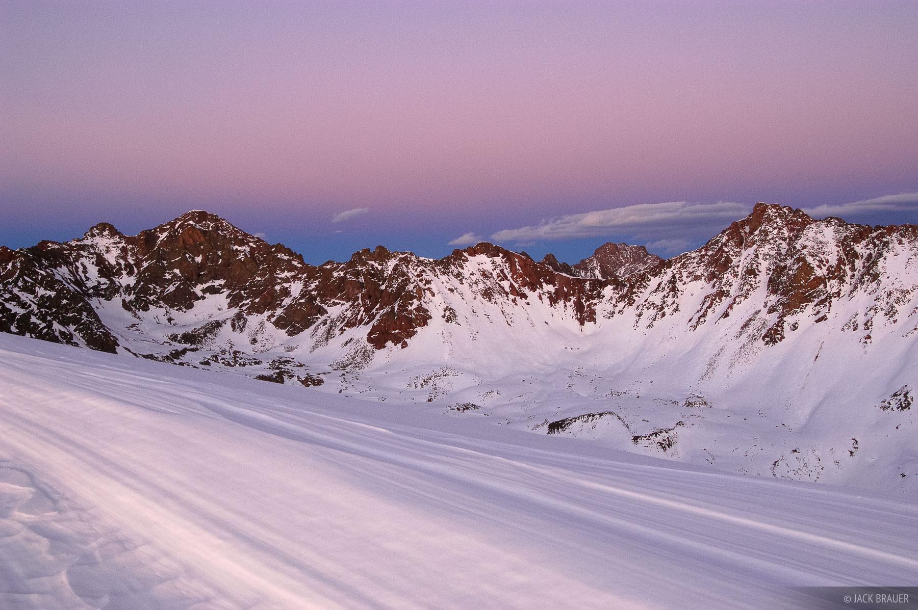 Valhalla, Snow Peak, dusk, Gore Range, Colorado, Eagles Nest Wilderness, photo