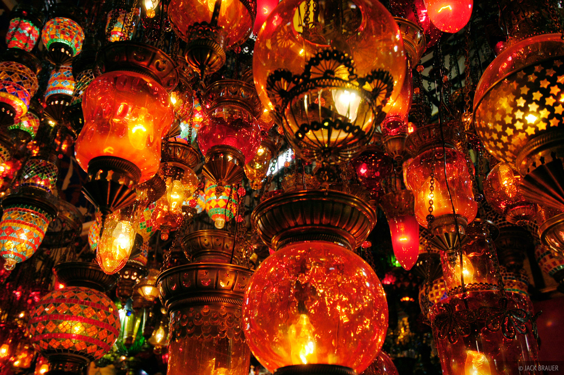 lamps, Grand Bazaar, Istanbul, Turkey, photo