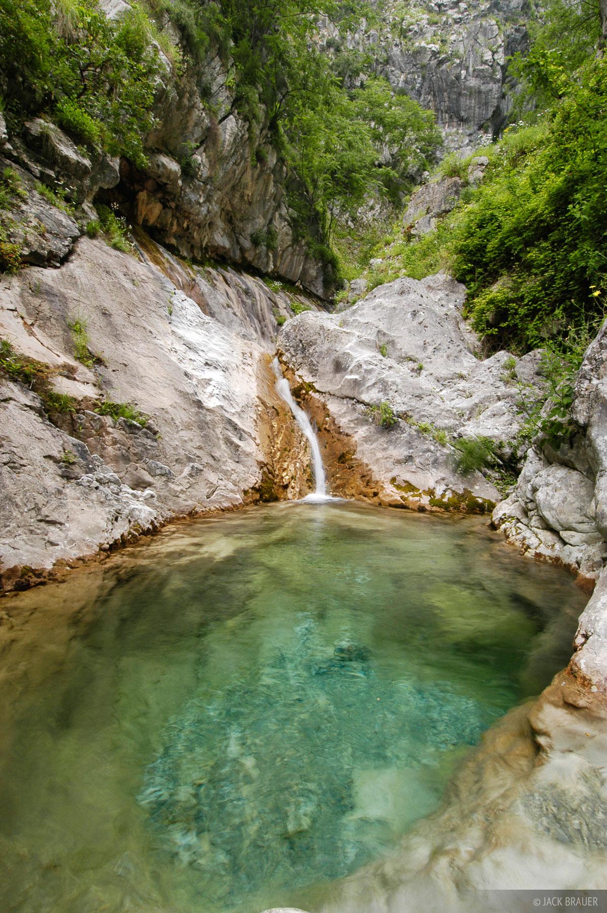 emerald pool, Kotor, Montenegro, photo