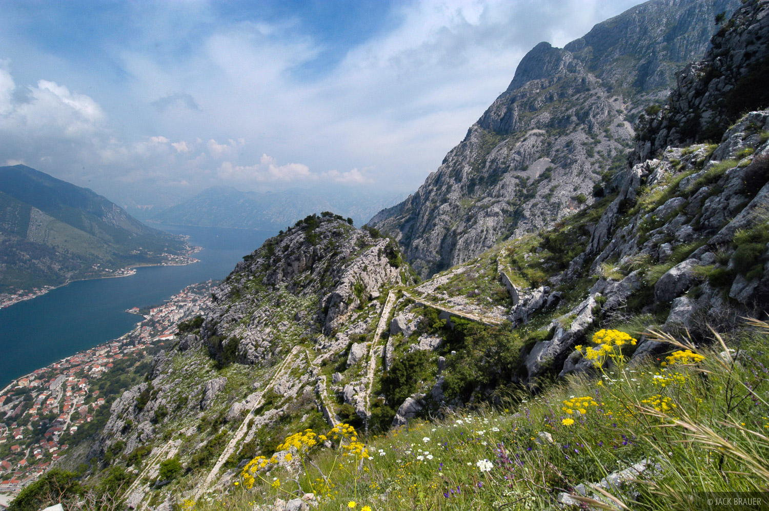 The Ladder of Cattaro - an ancient mule track above the town of Kotor