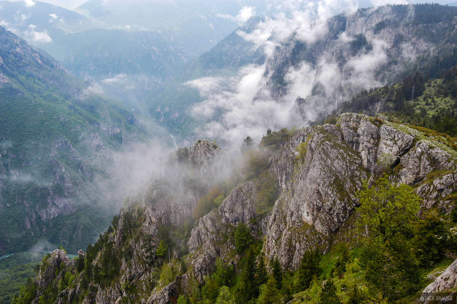 Looking down into Tara Canyon - at 1,300 meters (4,265 ft.) at it's deepest, it is the deepest canyon in Europe.