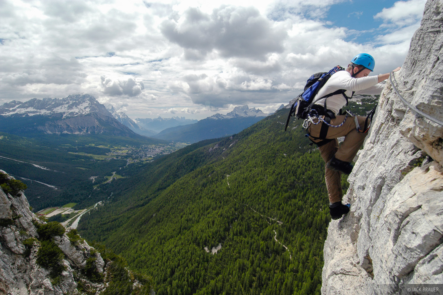 climbing, Col Rosa, via ferrata, Dolomites, Italy, photo