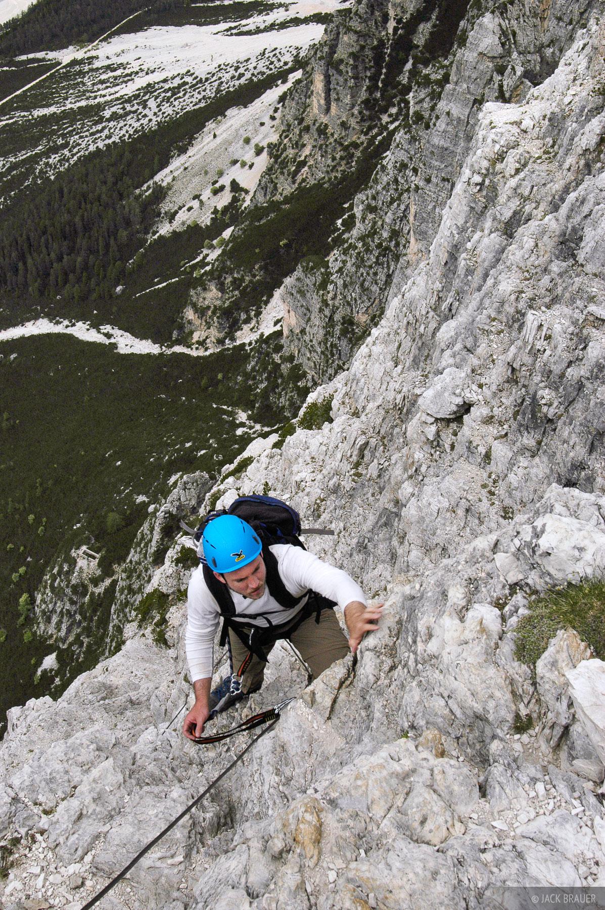 Fiámes, via ferrata, Dolomites, Italy, Cortina, climbing, Alps, photo