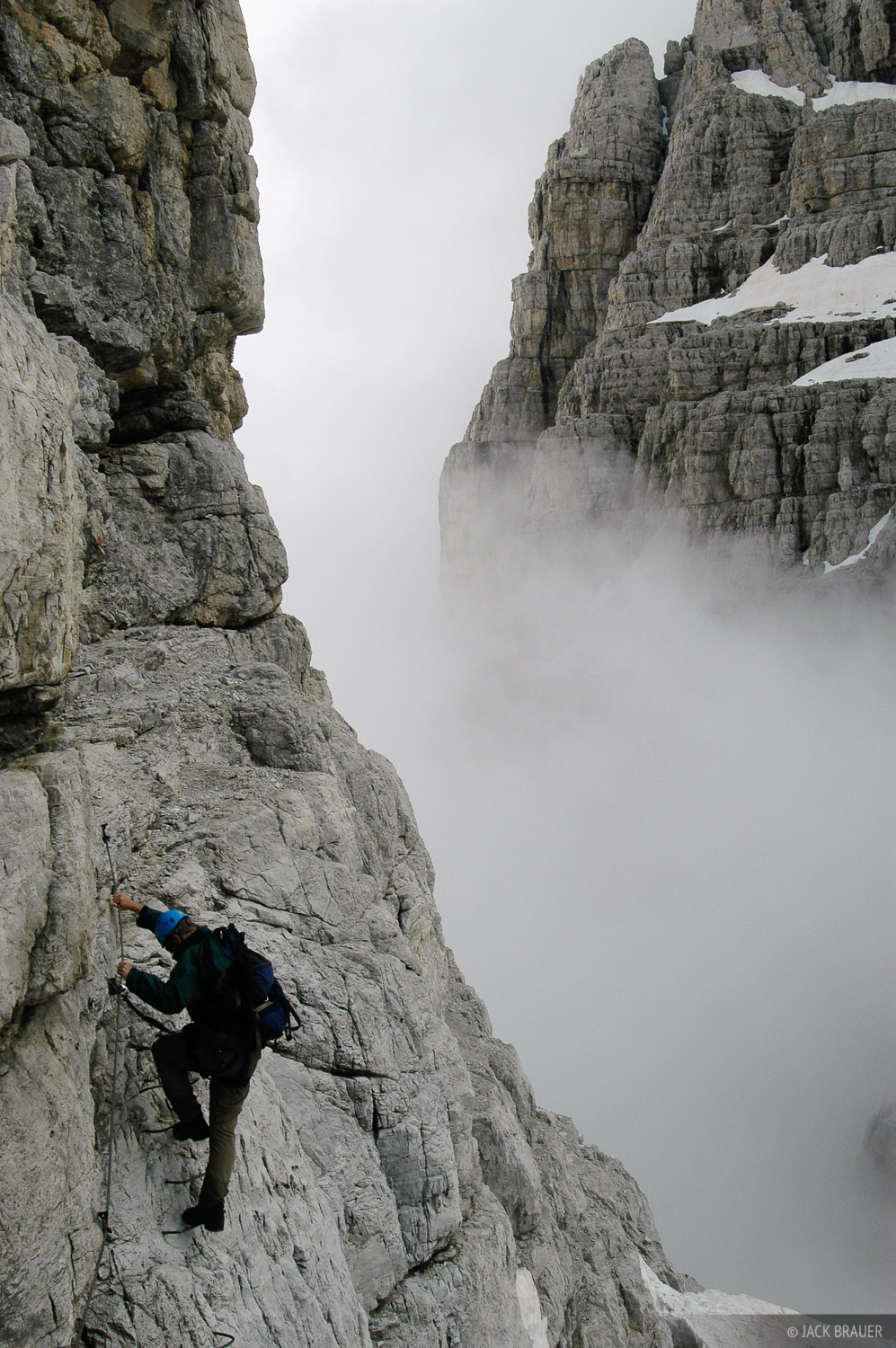 Brenta group, via ferrata, climbing, Madonna di Campiglio, Dolomites, Italy, photo