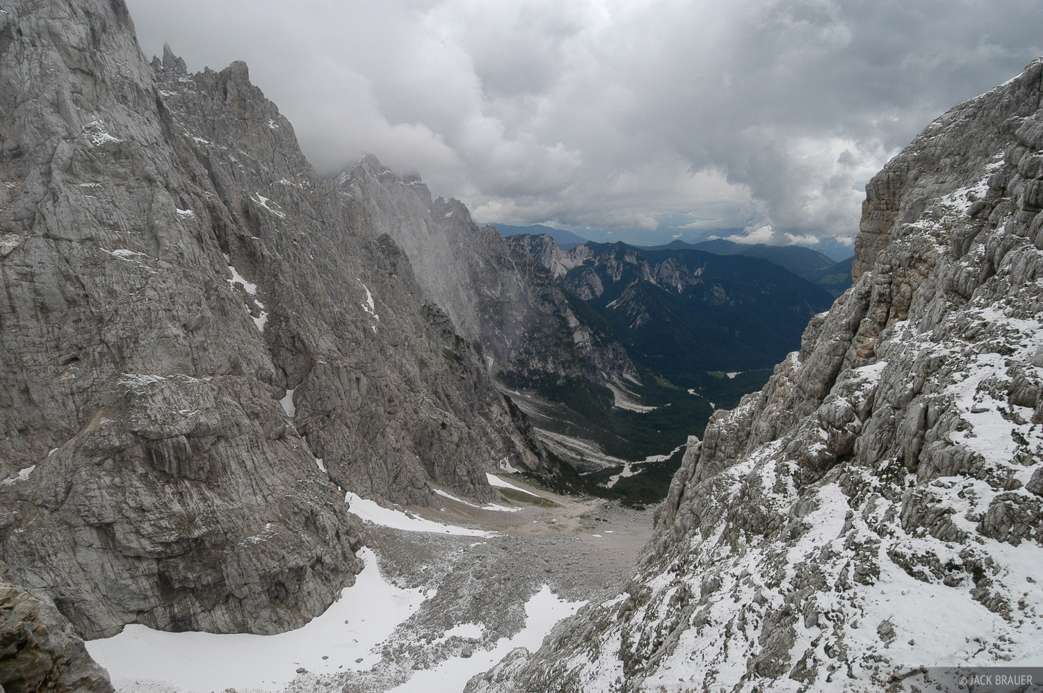 Looking down the Krnica Valley.