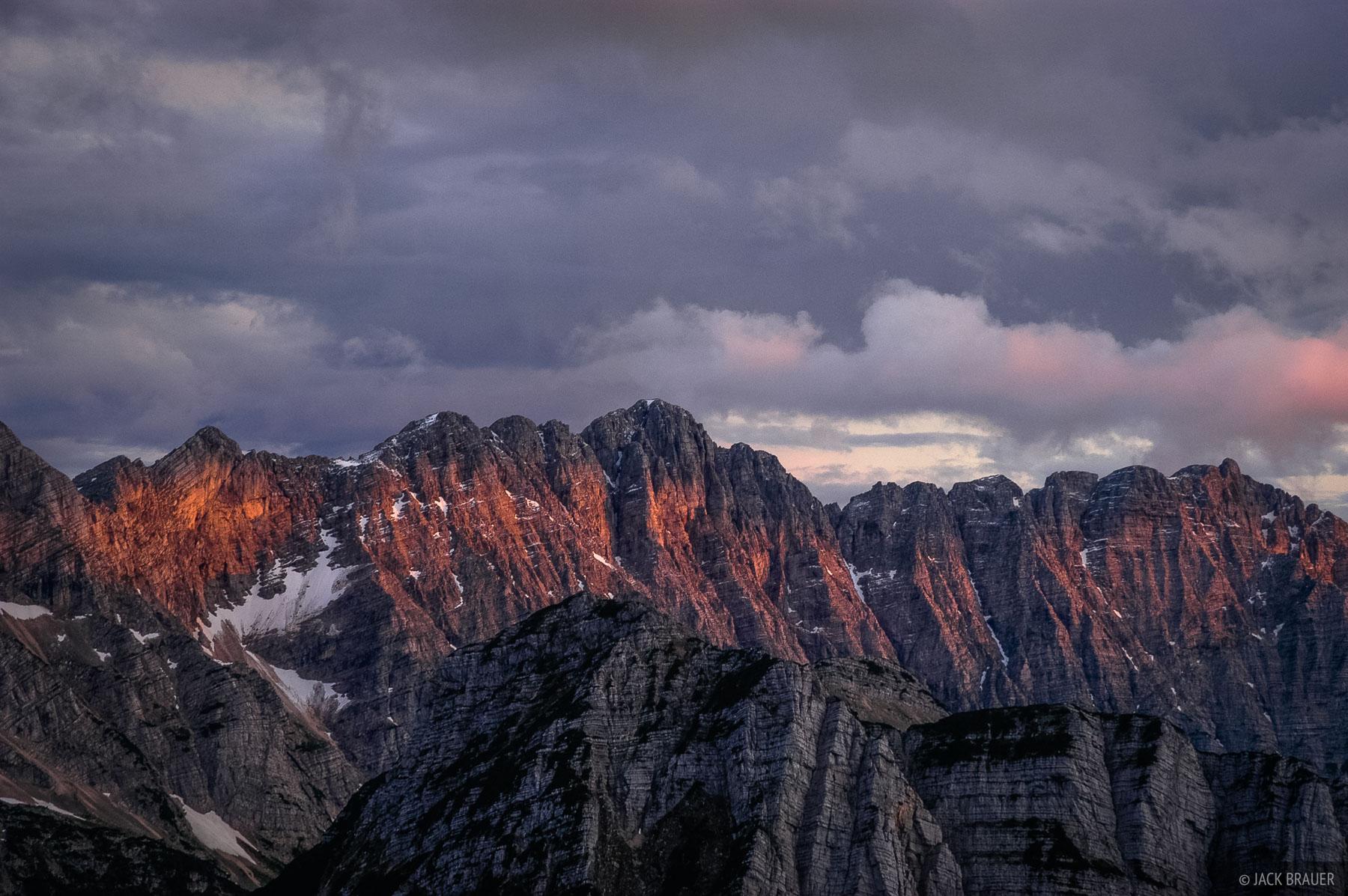 Julian Alps, Slovenia, Pihavec, sunset, Alps, photo