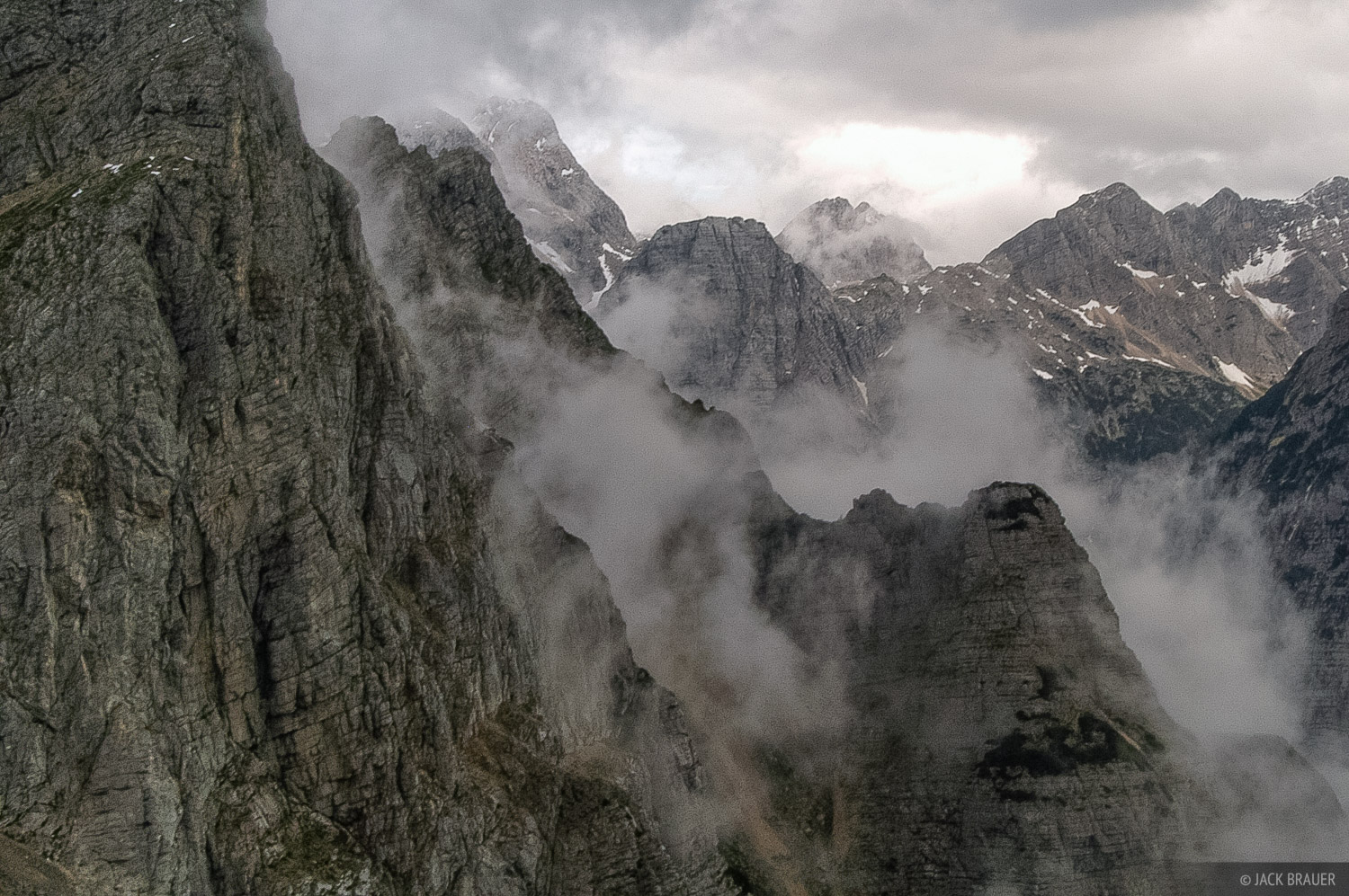 Pihavec, mountain mist, Julian Alps, Slovenia, Alps, photo