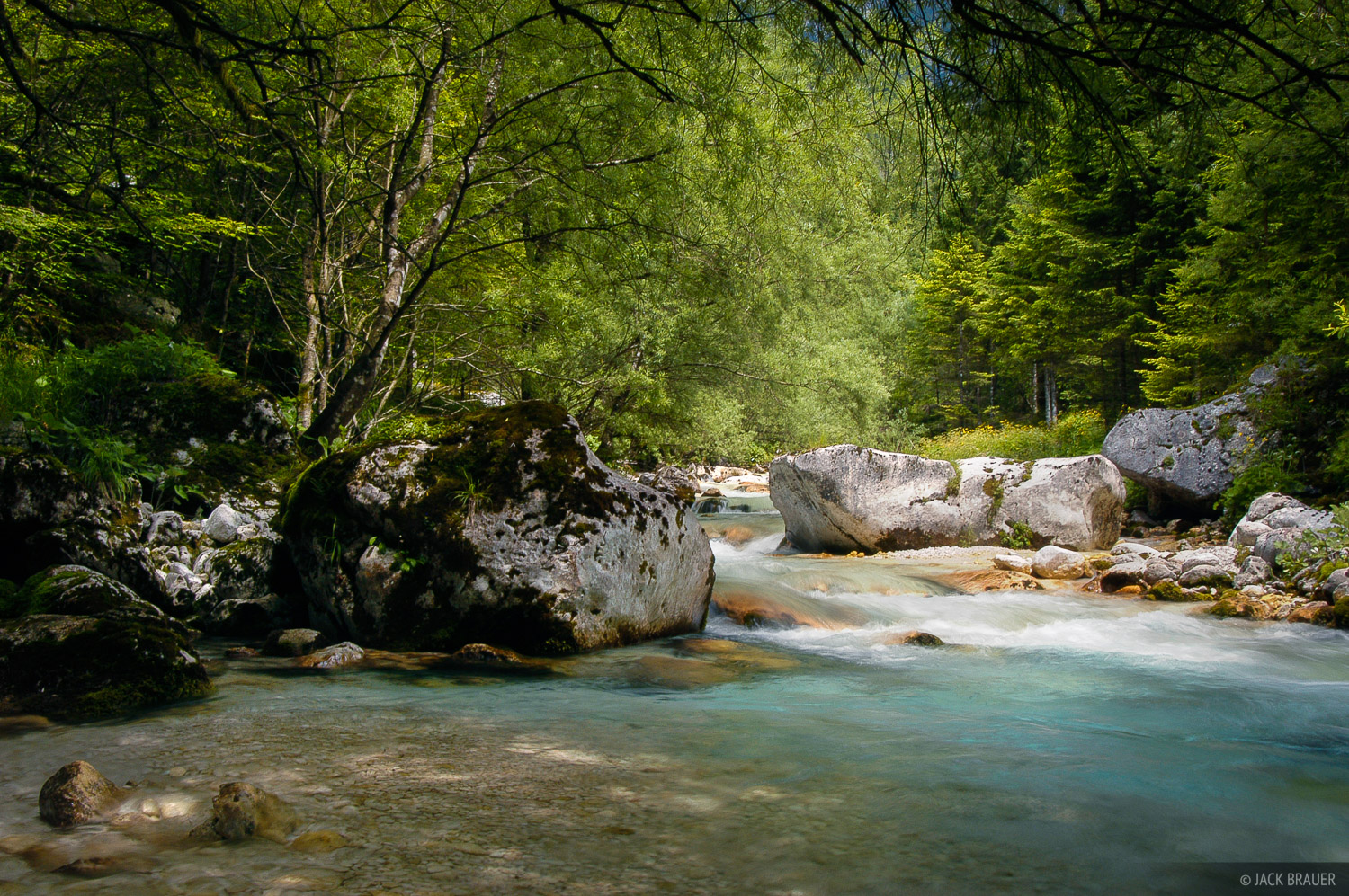 Julian Alps, Slovenia, river, Karjcarica, photo
