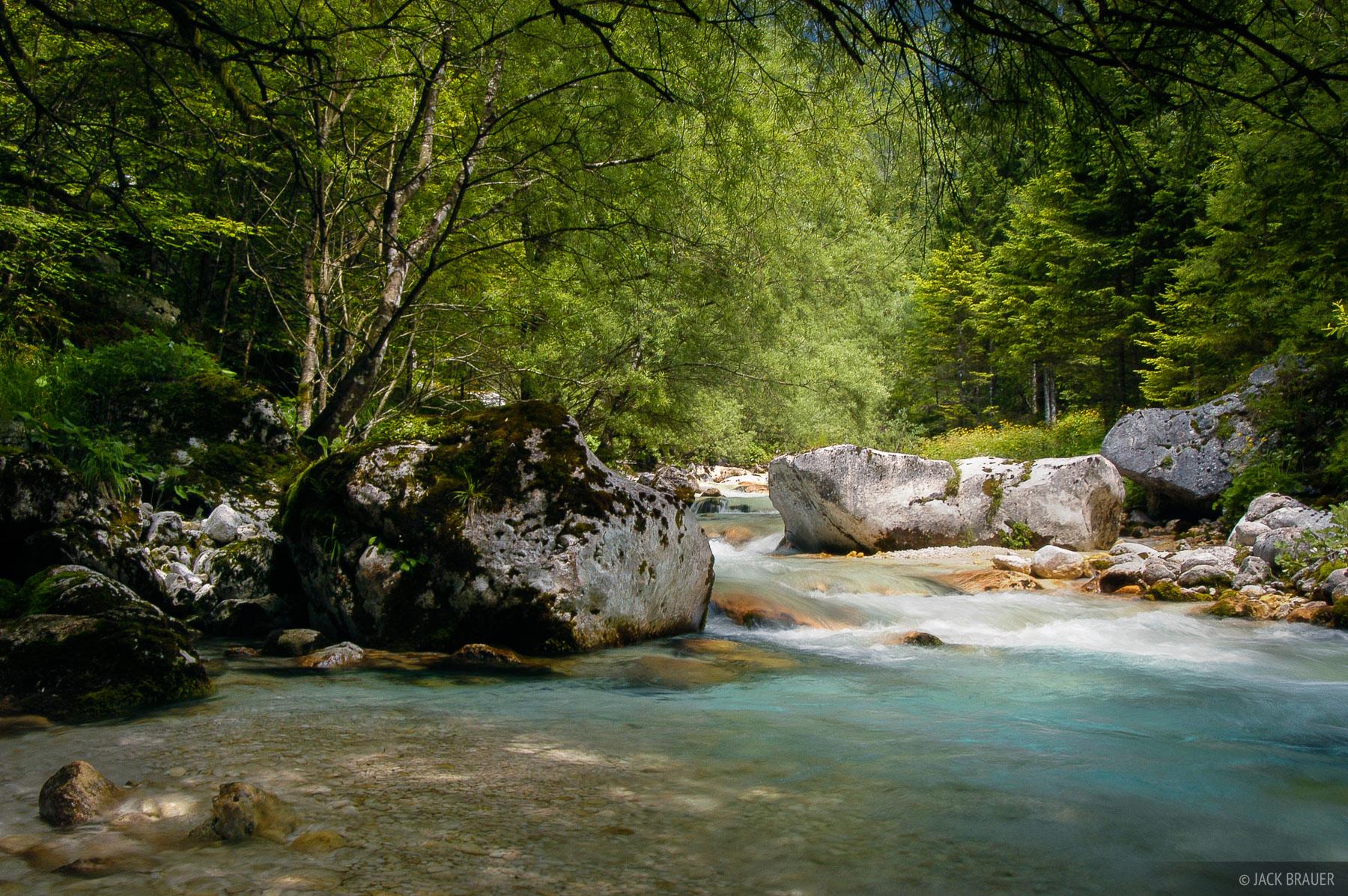 Julian Alps, Slovenia, river, Karjcarica, Alps, photo