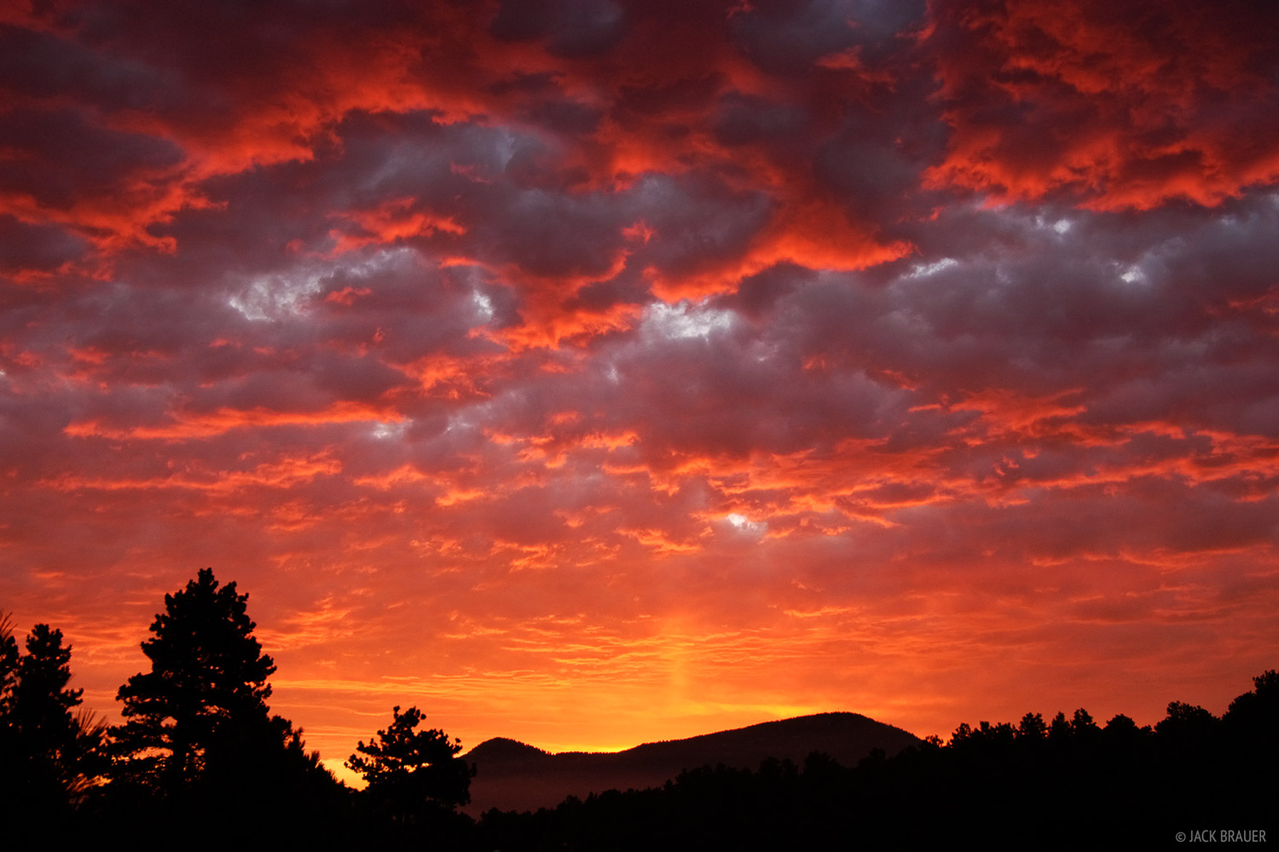 Evergreen, sunrise, Colorado, photo