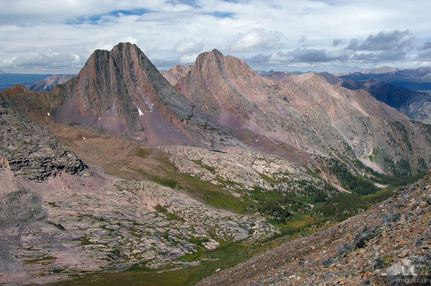 Vestal Peak, Arrow Peak, Grenadier Range, Colorado, photo