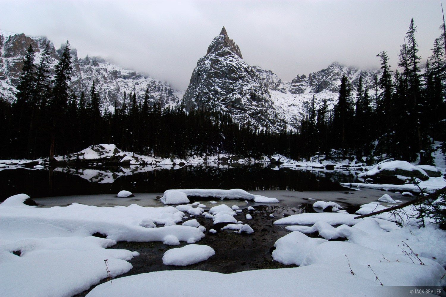 Lone Eagle Peak, Indian Peaks, Colorado, winter, photo