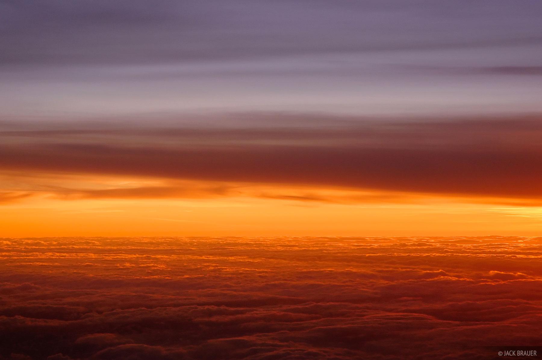 aerial, sunset, orange, clouds, utah, photo