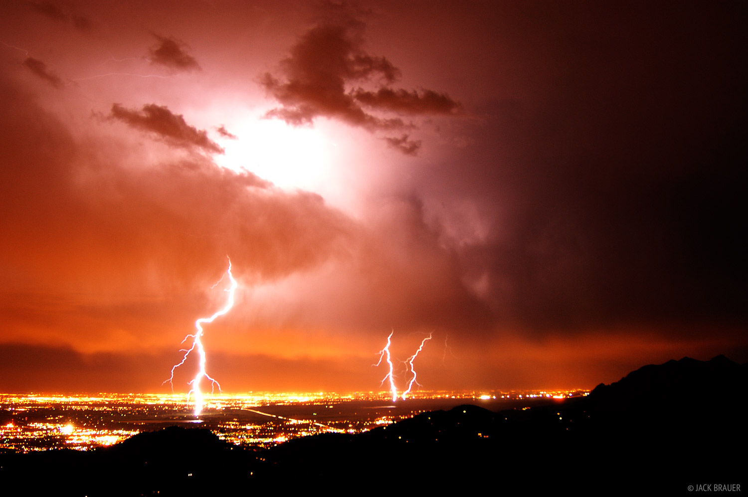 lightning bolts, Denver, Boulder, Front Range, Colorado, photo