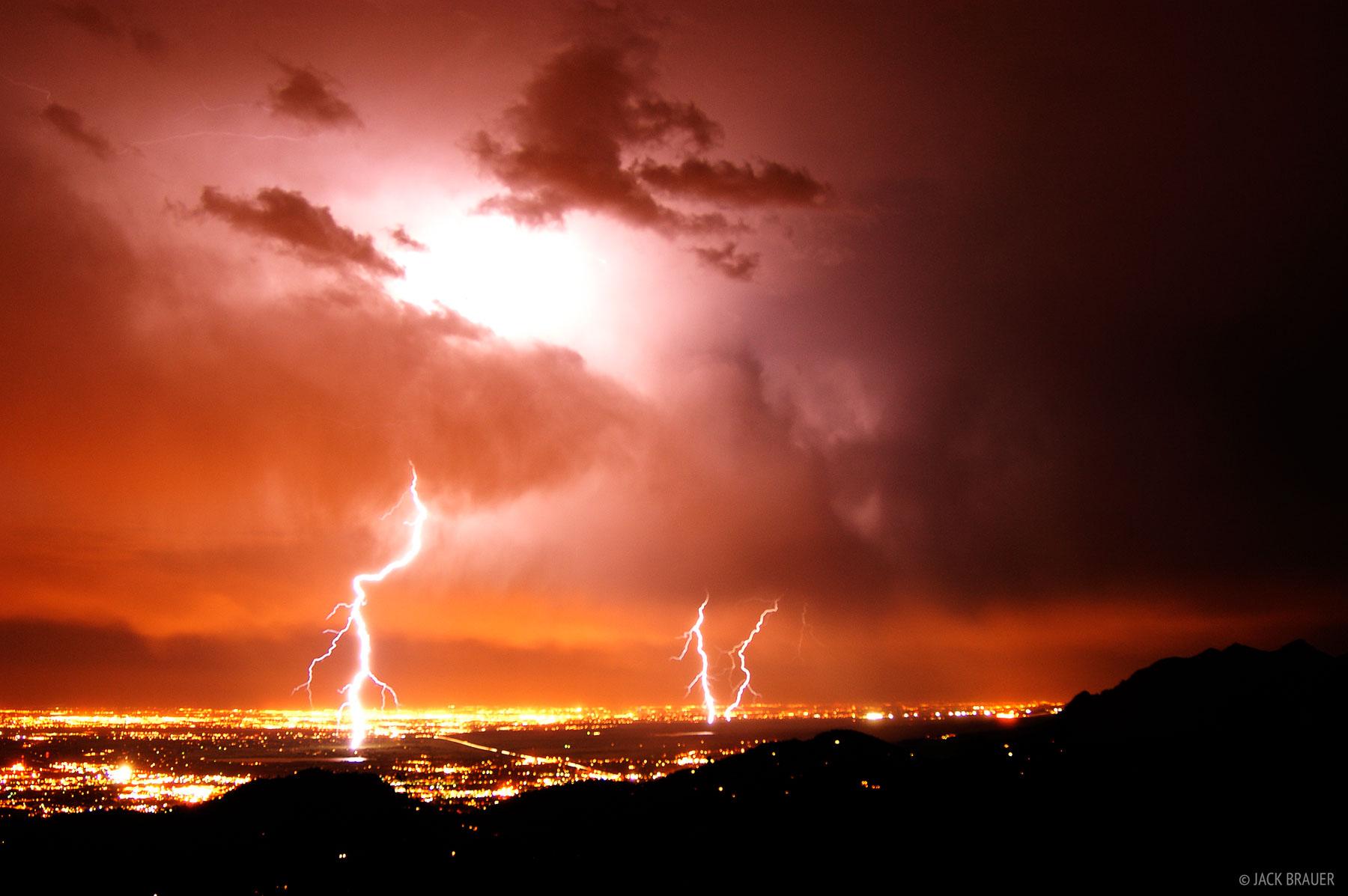 lightning bolts, Denver, Boulder, Front Range, Colorado, photo
