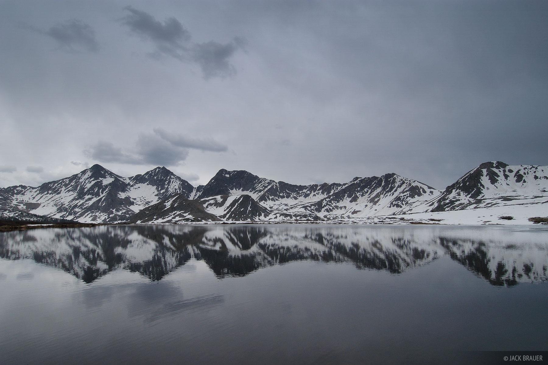 Three Apostles, reflection, Collegiate Peaks Wilderness, Sawatch Range, Colorado, photo