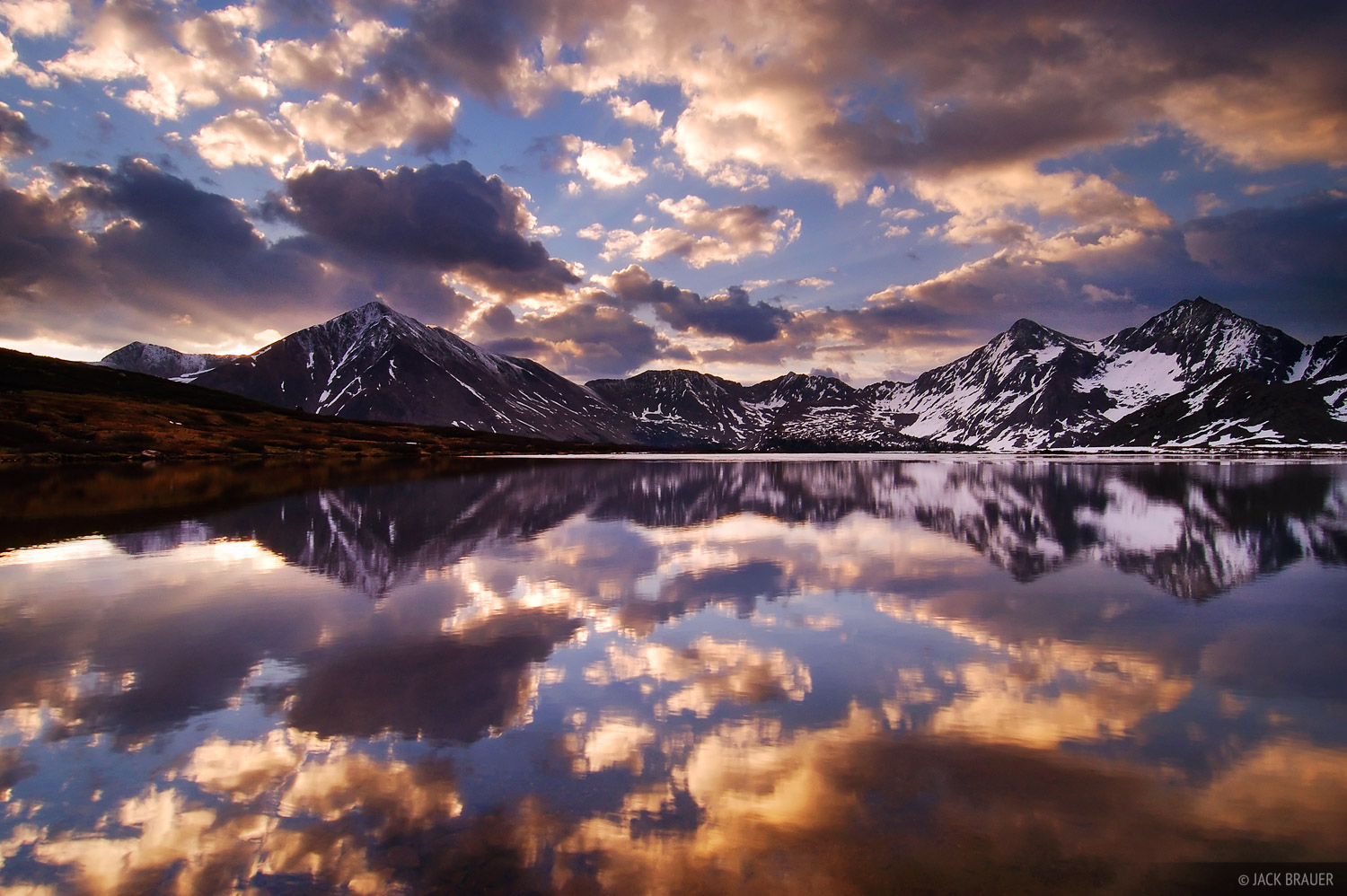 Huron Peak, North Apostle, Ice Mountain, reflection, Colorado, photo