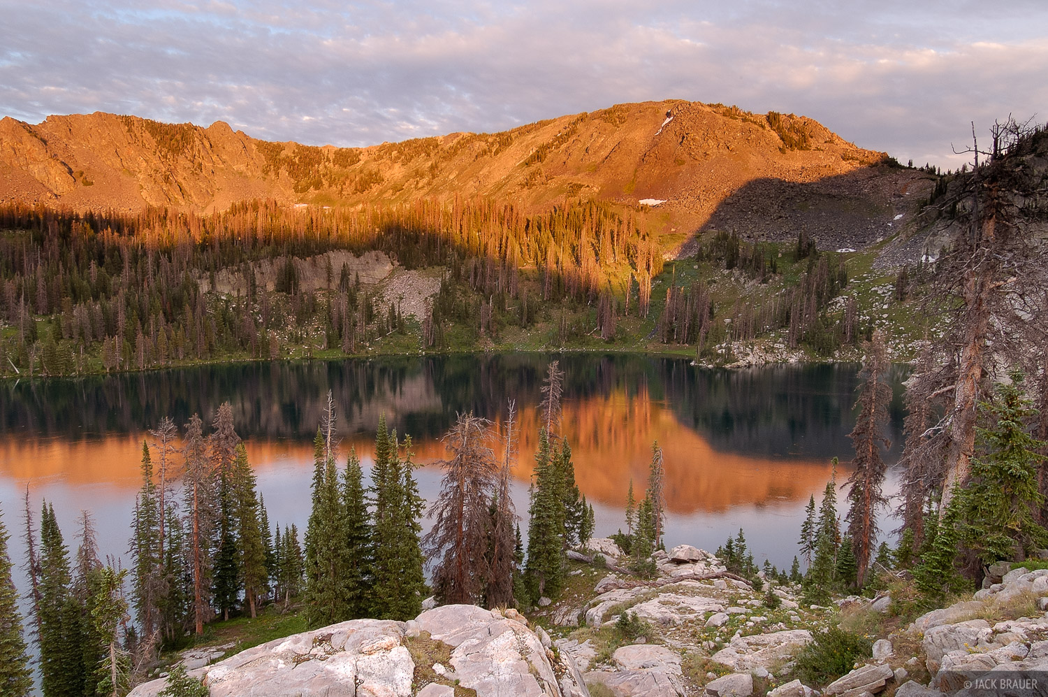 Gilpin Lake, Mount Zirkel Wilderness, Park Range, Colorado, photo