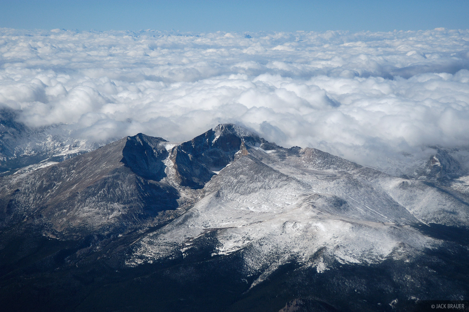 aerial, Longs Peak, Colorado, photo