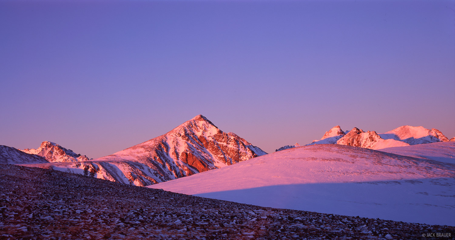 Niwot Ridge, Indian Peaks, sunrise, alpenglow, Colorado, photo