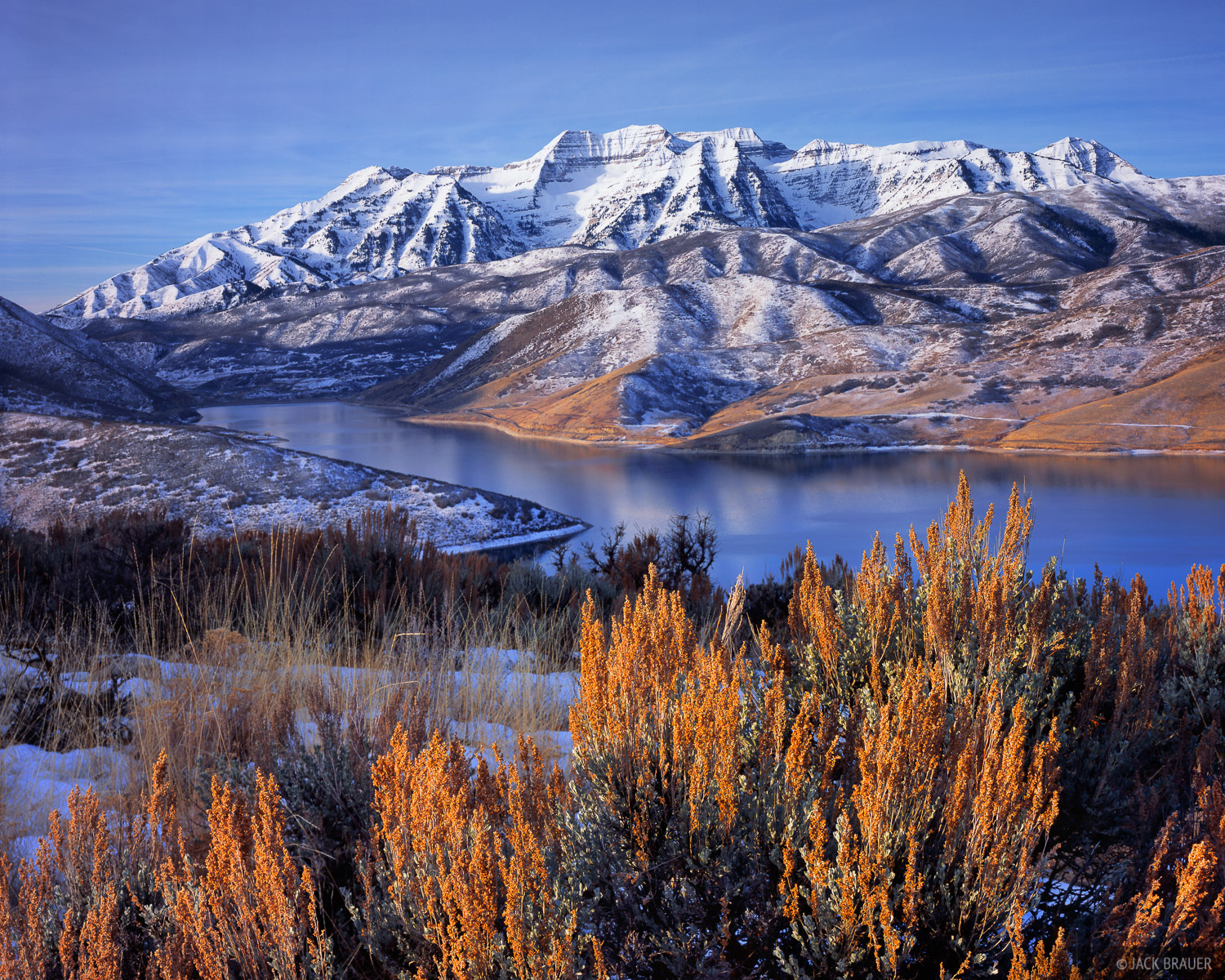 Mt. Timpanogos, Deer Creek Reservoir, Wasatch Range, Utah, photo