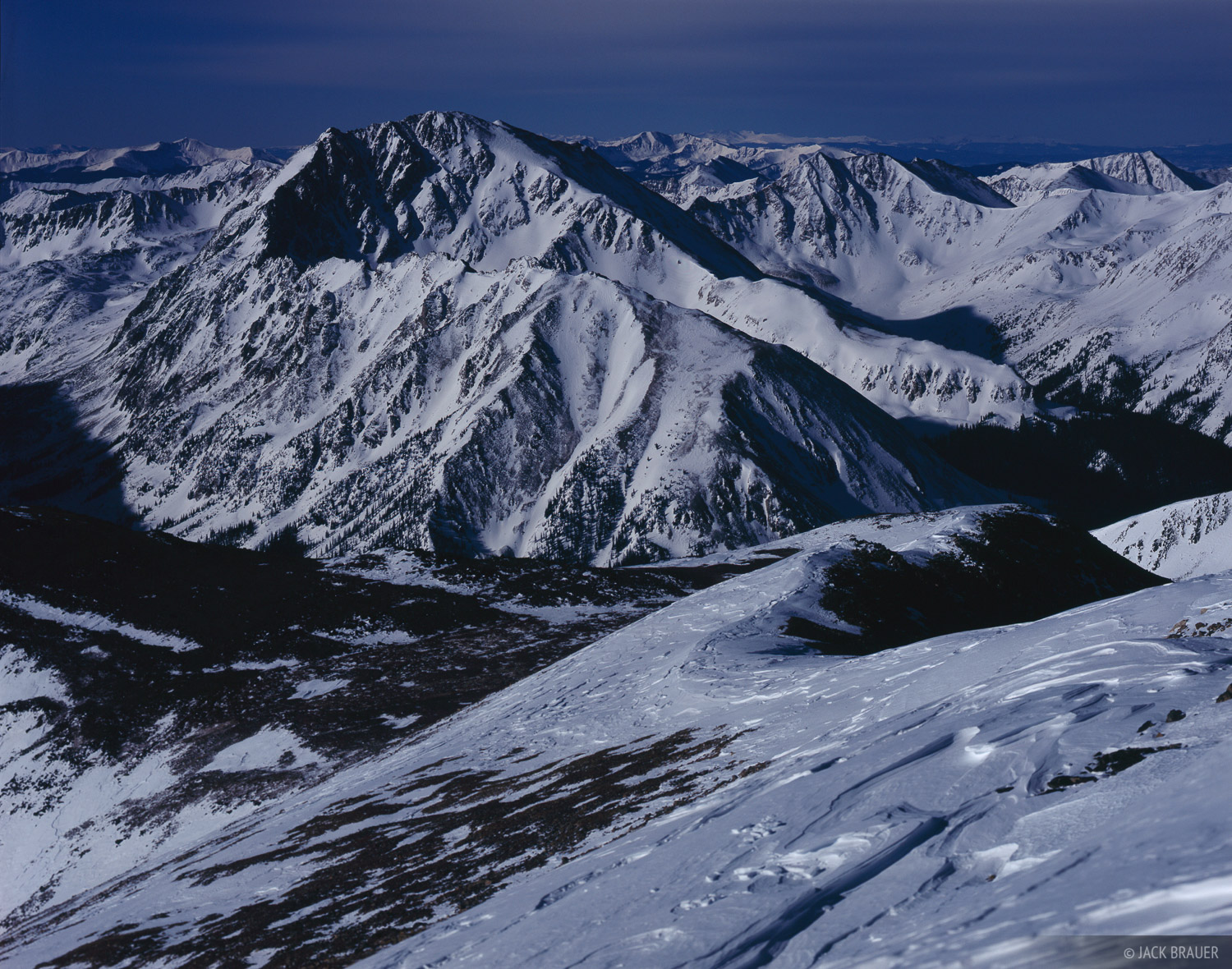 La Plata Peak, moonlight, fourteener, Sawatch Range, Colorado, Collegiate Peaks Wilderness, photo