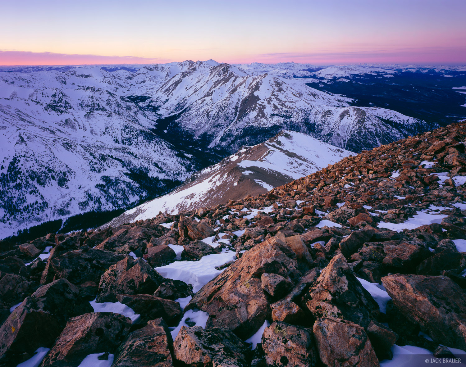 Mount Massive, Mount Elbert, Sawatch Range, fourteeners, sunset, Colorado, photo