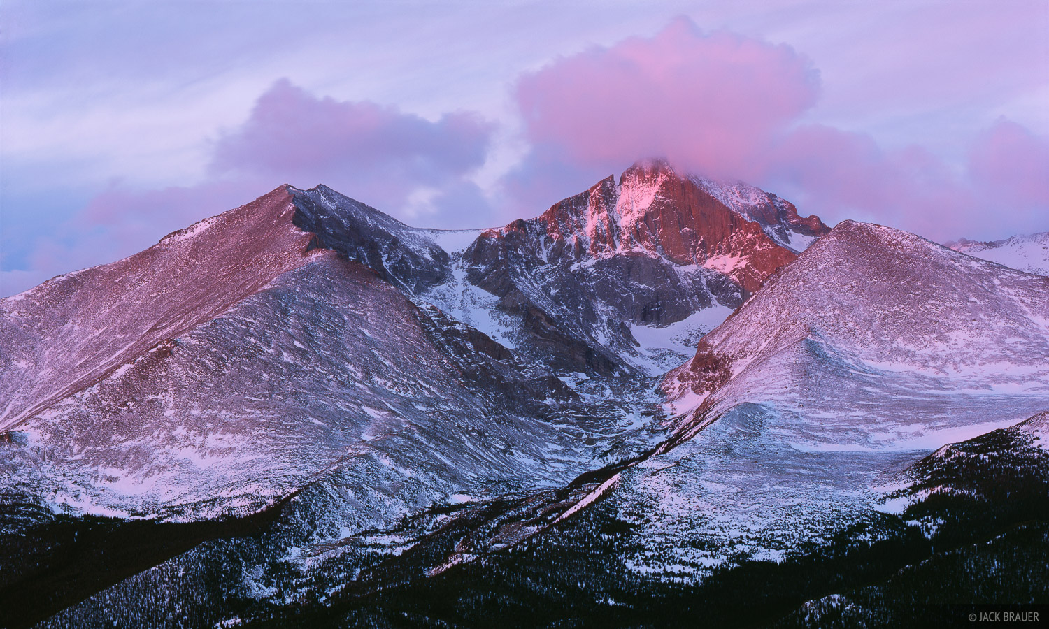 Longs Peak, Twin Peaks, Rocky Mountain National Park, Colorado, photo