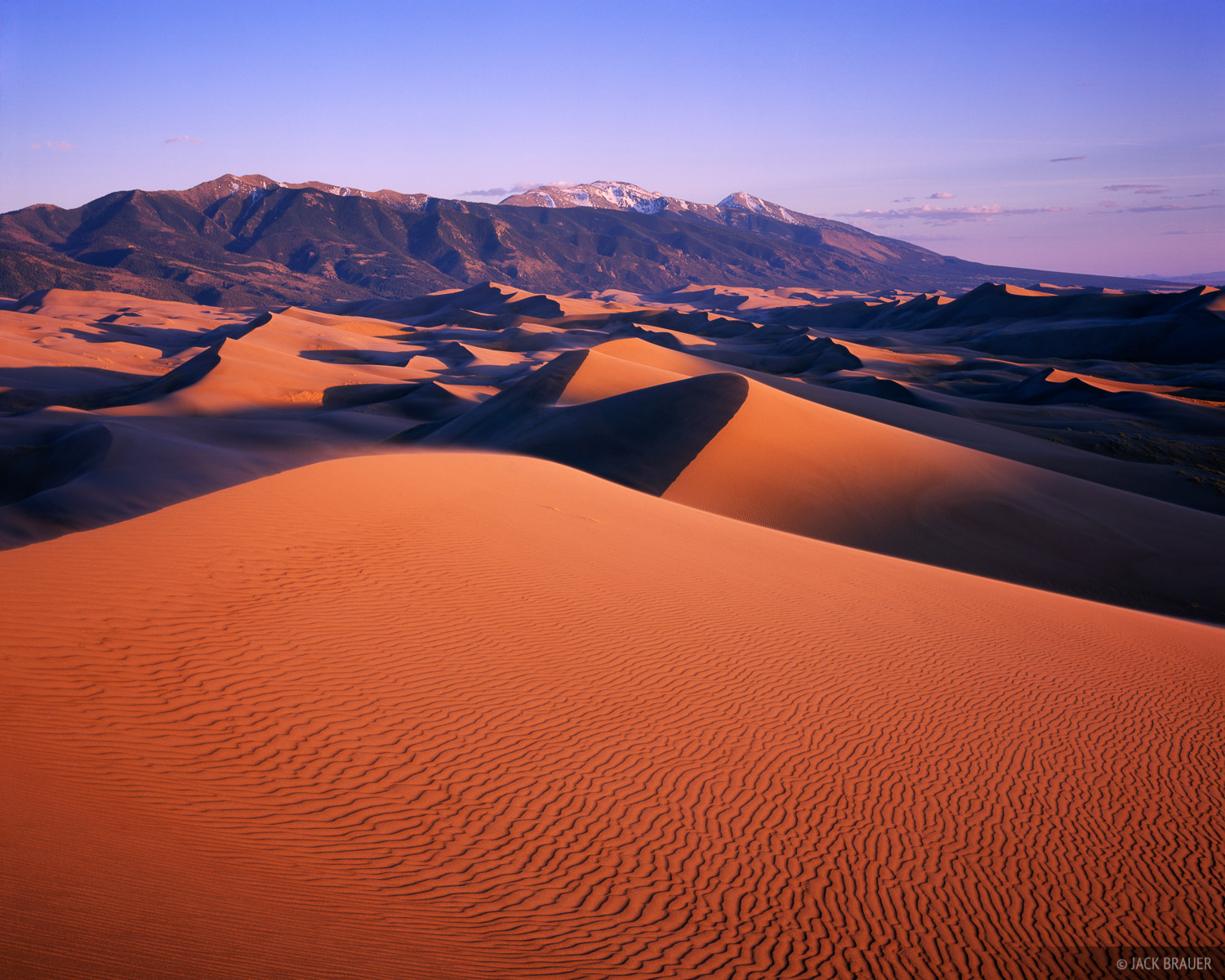 sunset, Great Sand Dunes National Park, Colorado, photo