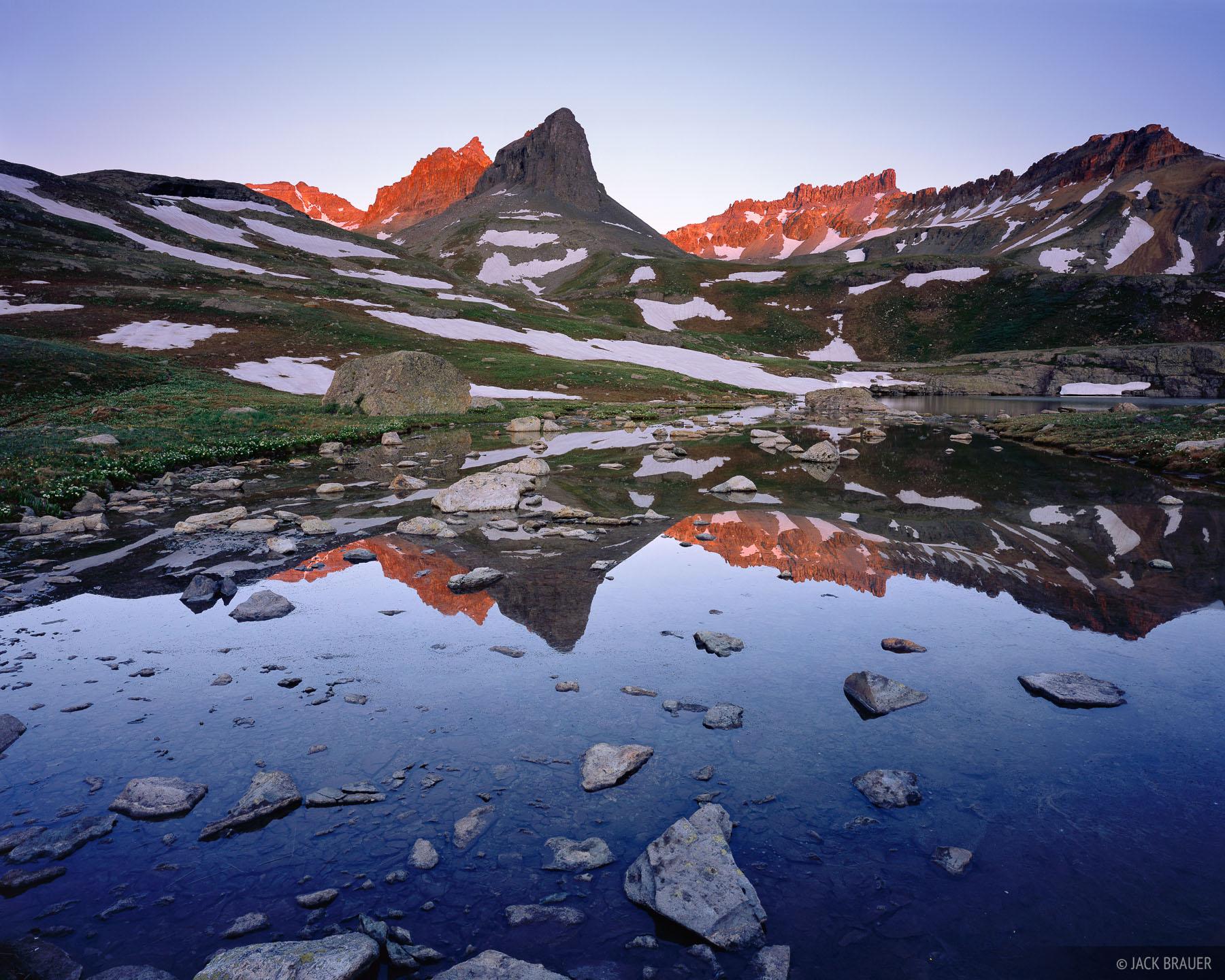 Ice Lakes Basin, reflection, San Juan Mountains, Colorado, photo