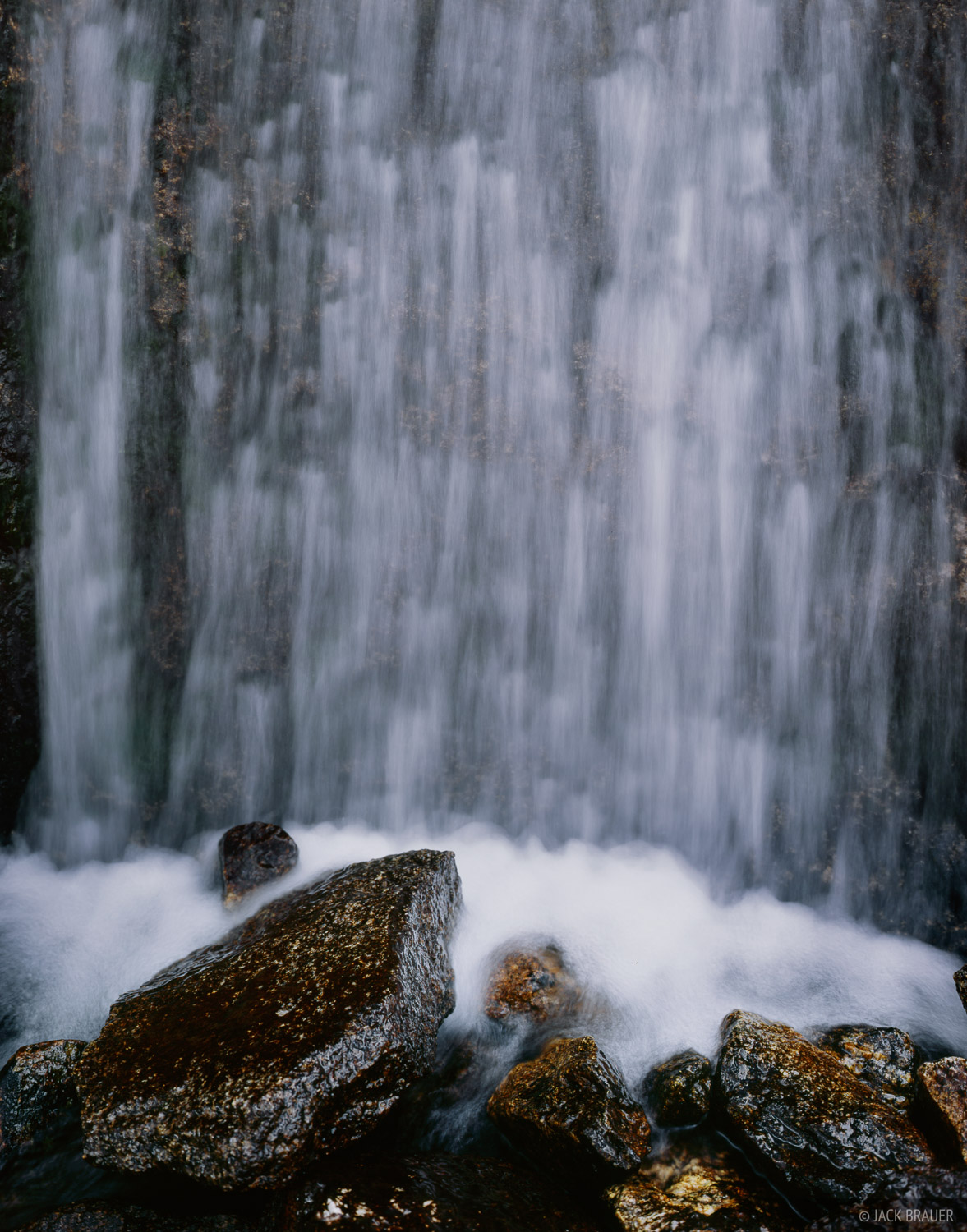 waterfall in the Cirque of the Towers - August