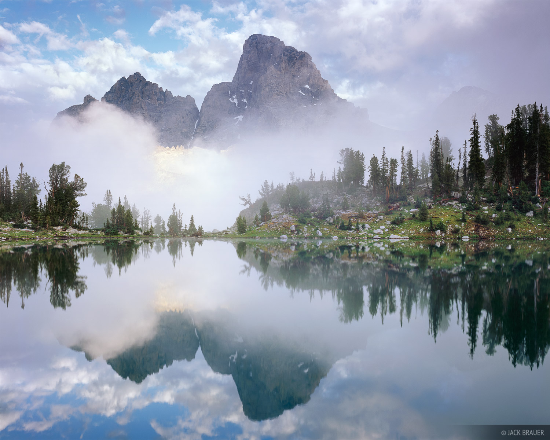 reflection, Grand Teton National Park, Wyoming, photo