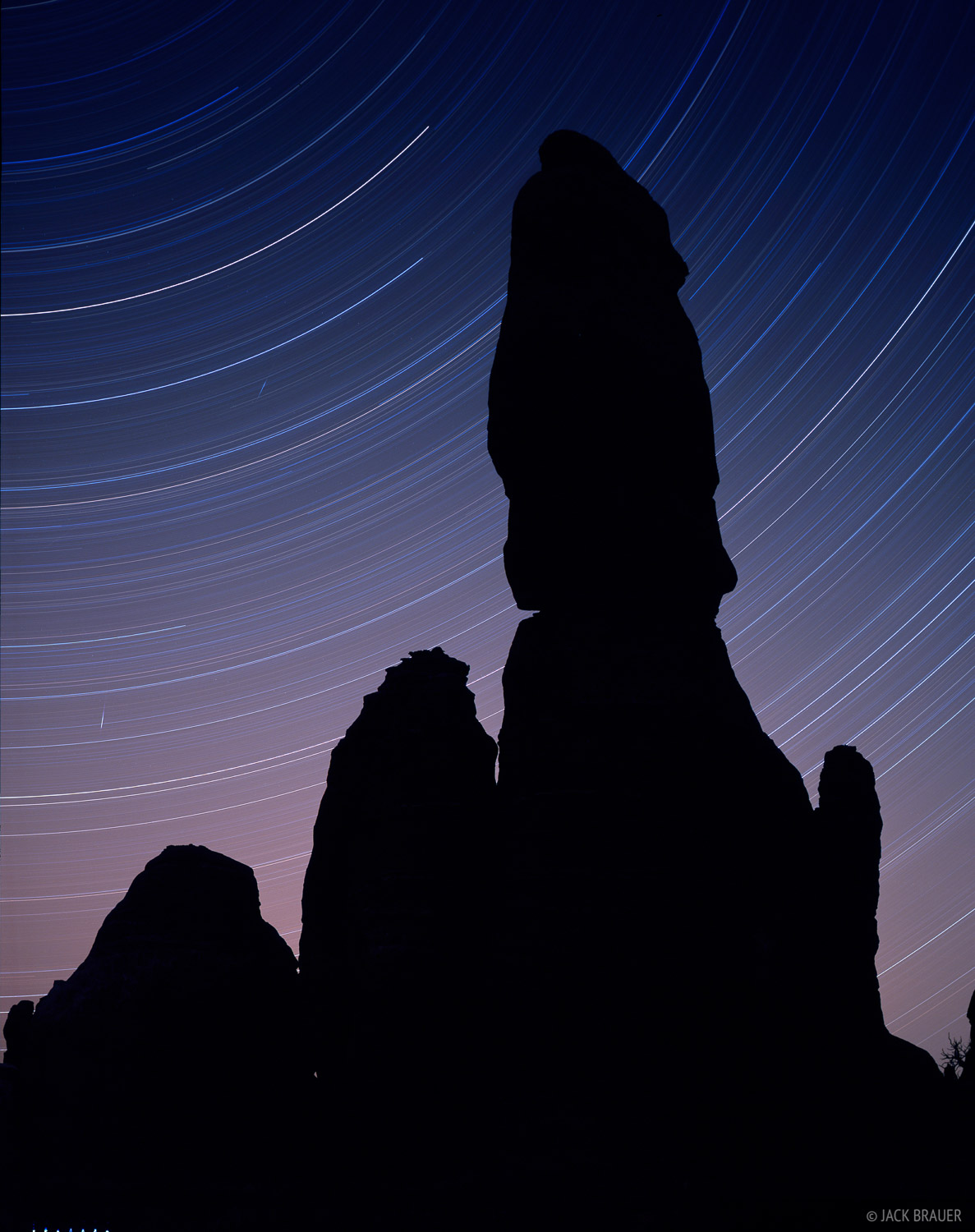 star trails, Canyonlands National Park, Utah, photo