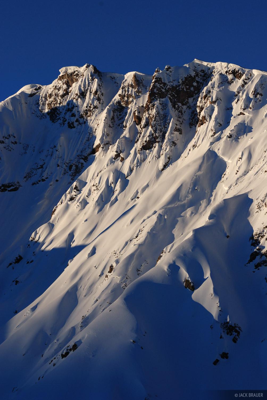 Uncompahgre Wilderness, snowy peak, San Juan Mountains, Colorado, photo