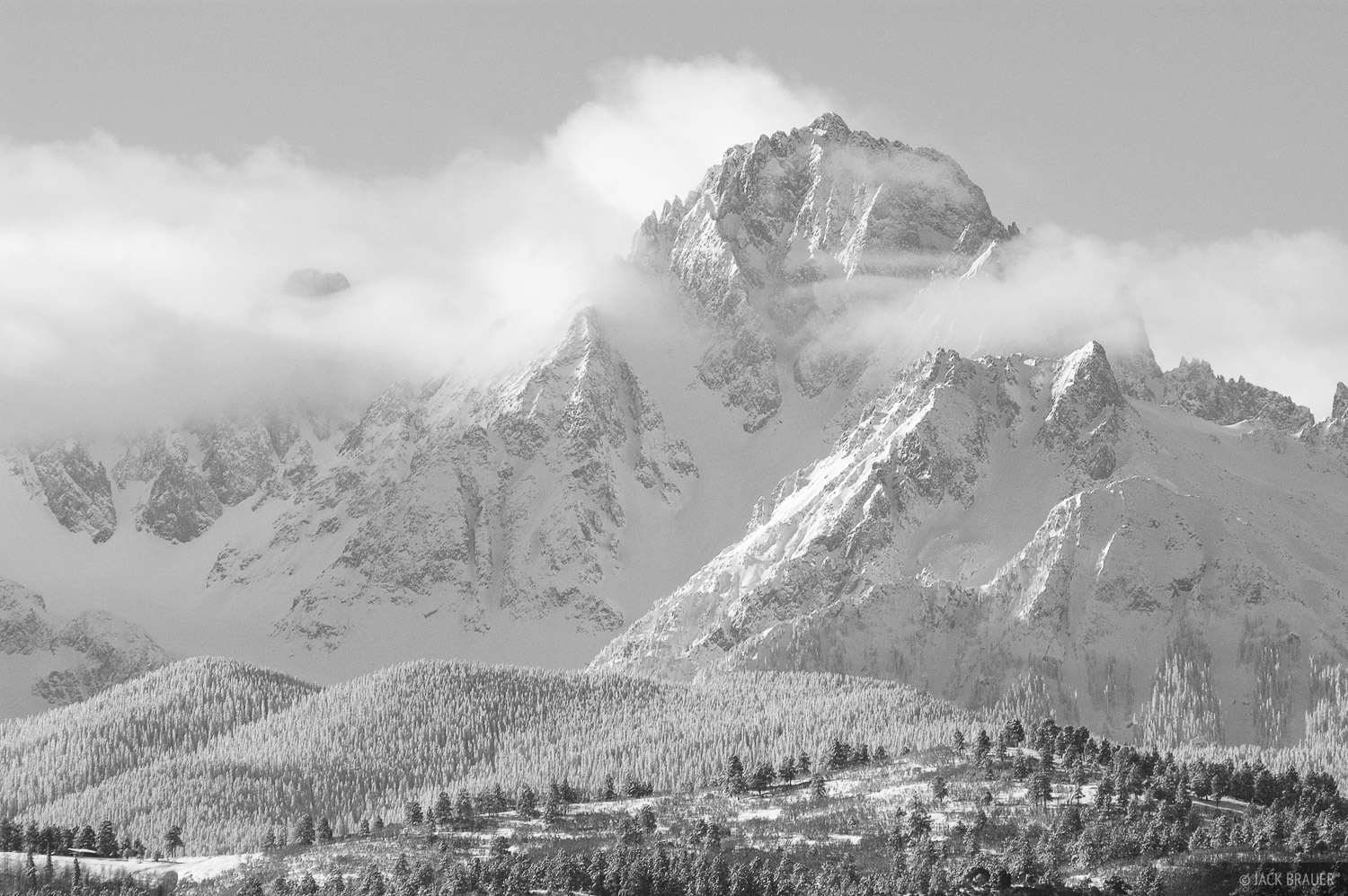Mt. Sneffels, San Juan Mountains, Colorado, winter, February, photo